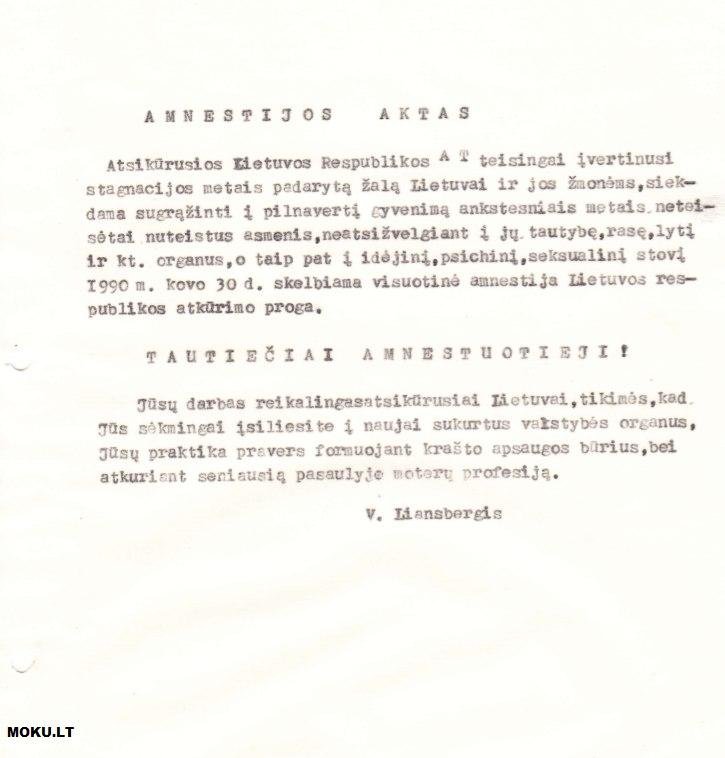 Visuotinė 1990 amnestija Lietuvoje