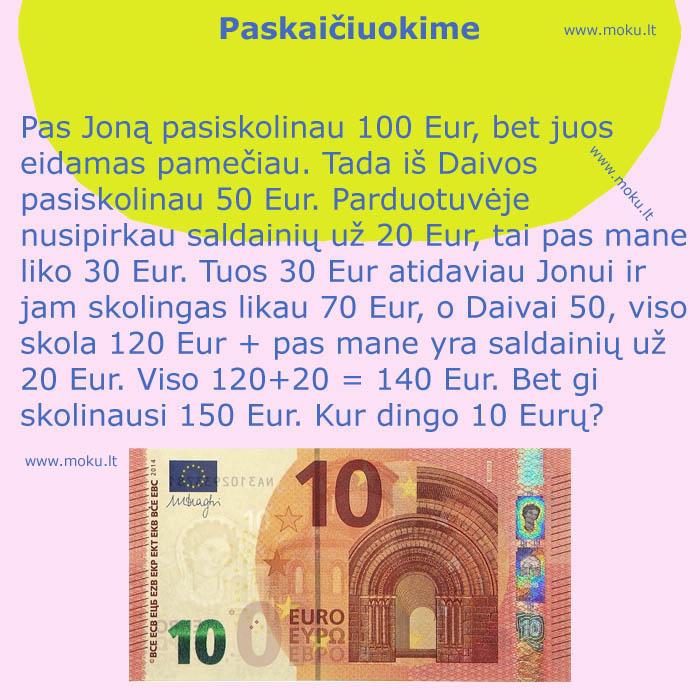 Galvosukis - kur dingo 10 euru